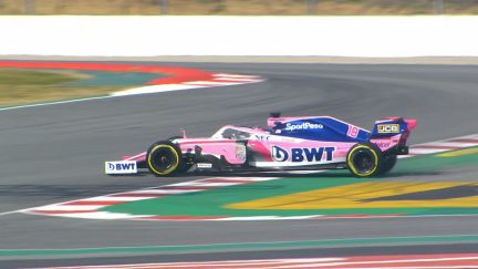 Testing Day 4: Hard-pushing Stroll spins at Turn 13