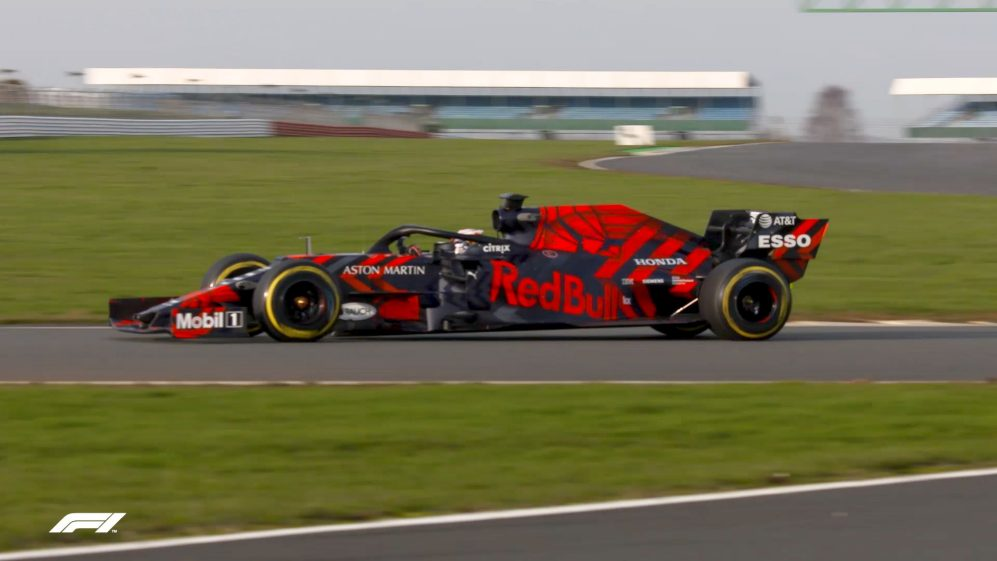 Red Bull shakedown first Honda-powered car in one-off livery