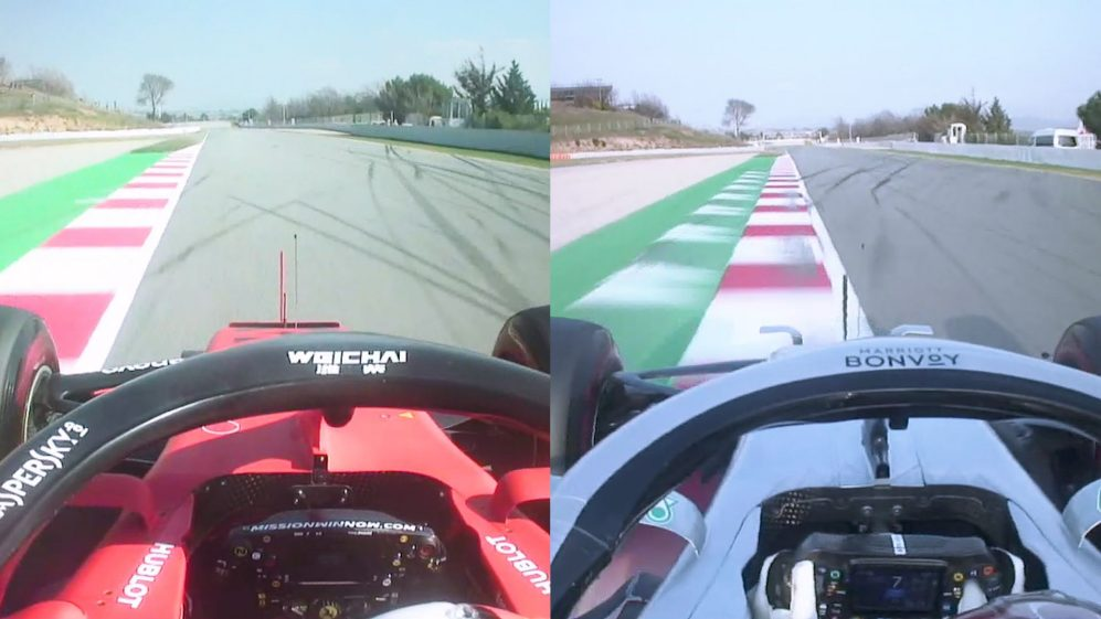 Vettel vs Hamilton: Fastest Testing laps compared