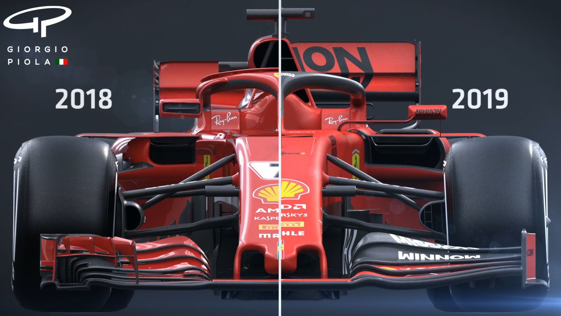Tech Tuesday Exploring The Differences Between Ferrari S 2018 And 2019 F1 Car Designs Formula 1