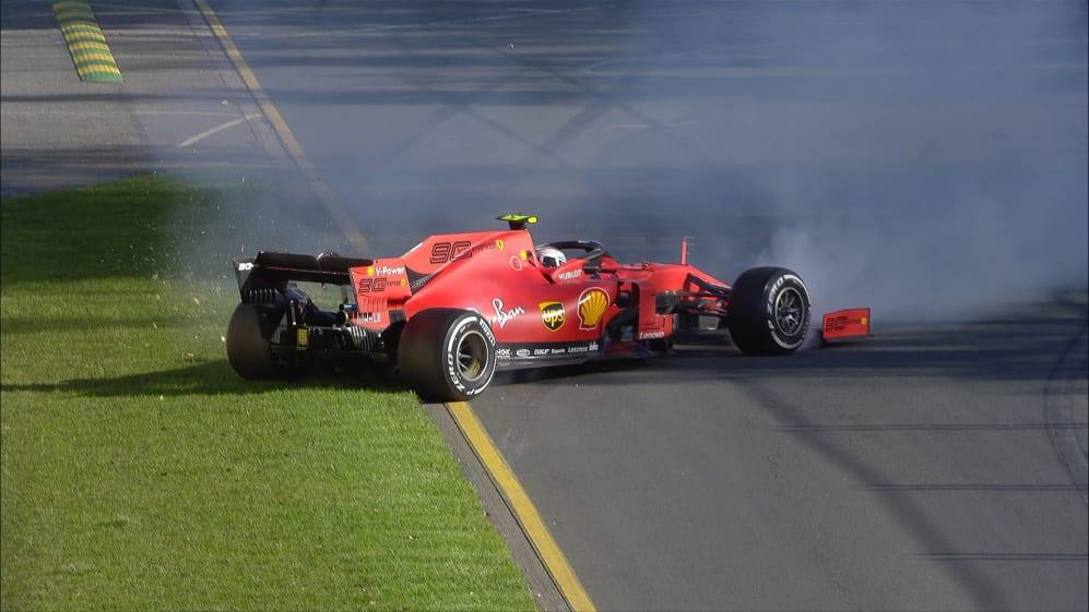 FP2: Leclerc loses it over Melbourne kerbs