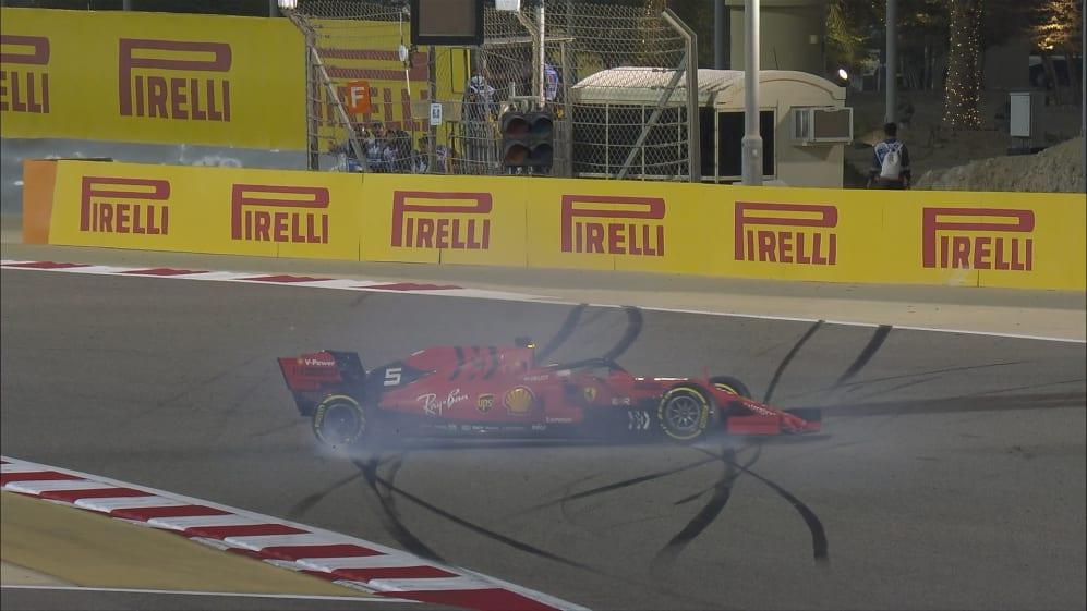 BAHRAIN GP: Vettel spins in wheel-to-wheel Hamilton battle