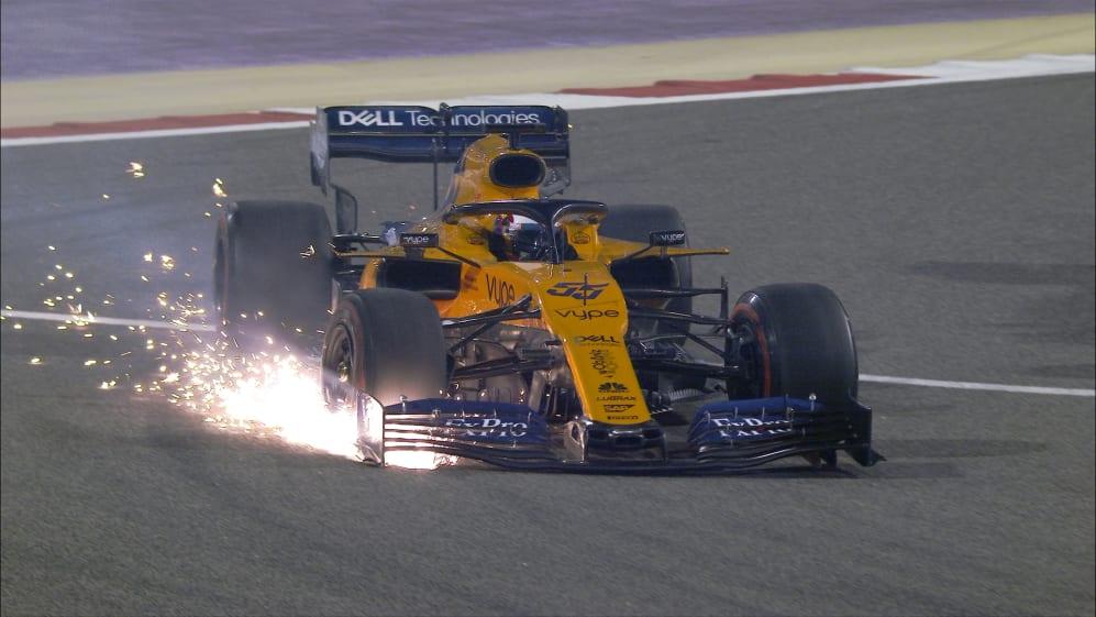 BAHRAIN GP: Sainz comes off worse in Verstappen scrap