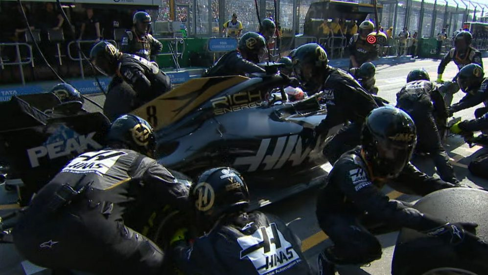 AUSTRALIAN GP: Grosjean retires following problem pit stop