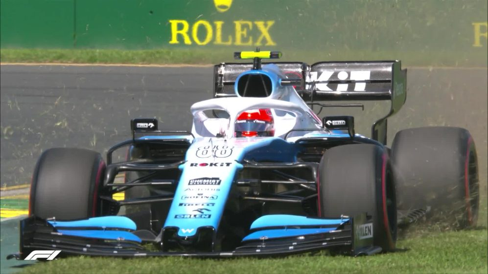 FP1: Kubica goes off-roading for Williams