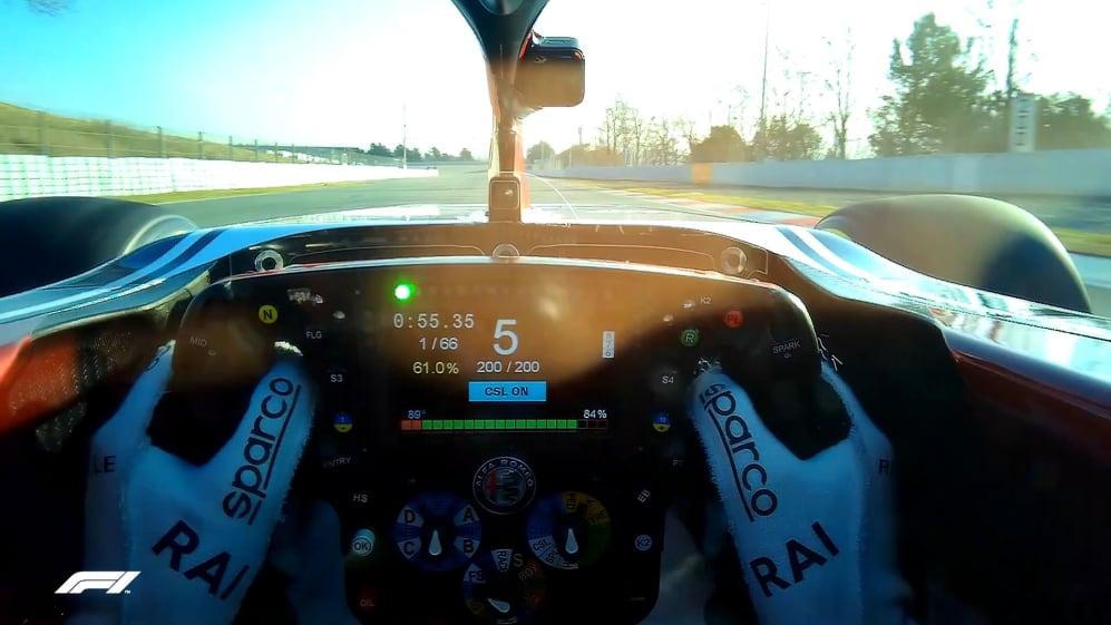 VISOR CAM: Kimi Raikkonen's driver's eye view in Barcelona
