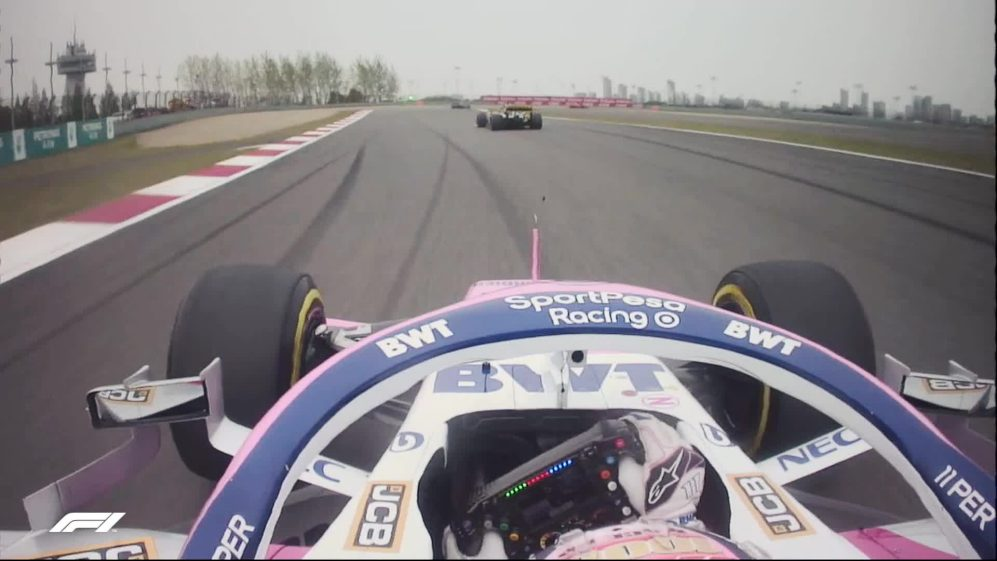 CHINESE GP: Perez gets away with big moment on Lap 2