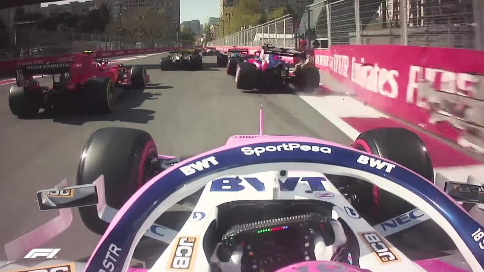 The ultimate hypercut from the start of the Azerbaijan Grand Prix