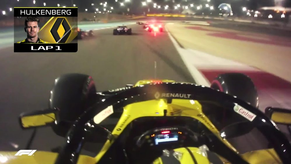 BAHRAIN GP: Onboard with Nico Hulkenberg's chaotic opening lap