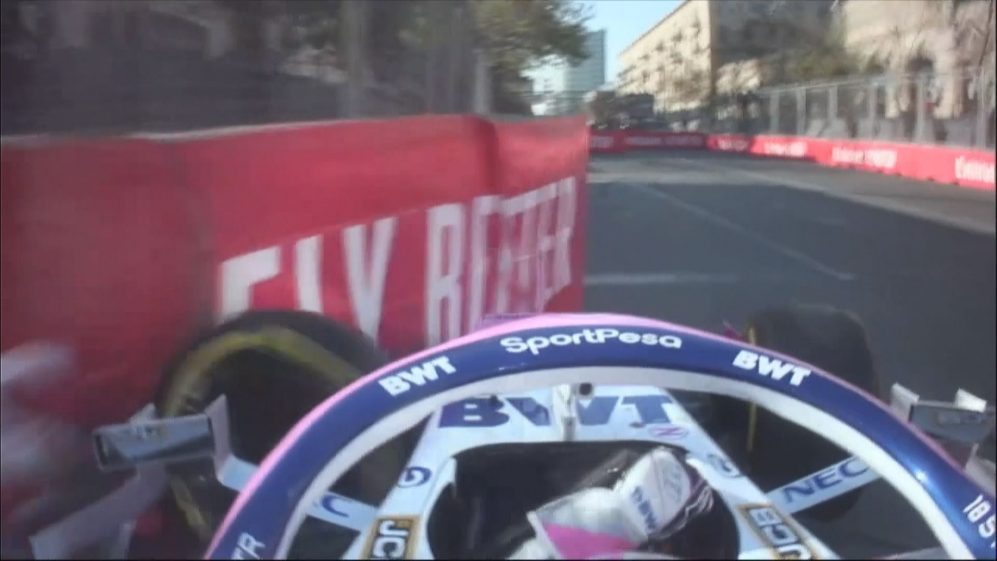 FP2: Stroll crash brings out the red flags in Baku