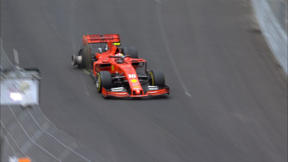 MONACO GP: Punctured Leclerc limps back to pits after touching wall