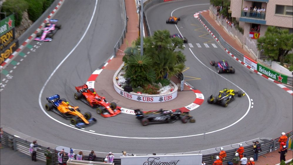 MONACO GP: Leclerc catches Norris napping at the hairpin