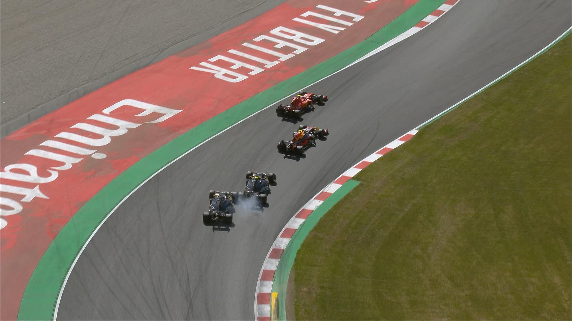 SPANISH GP: Haas team mates make contact on race restart