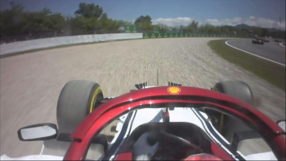 SPANISH GP: Raikkonen Drops To Last After Turn 4 Off On Lap 1