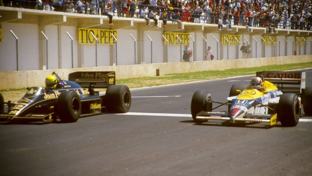 F1 Vault: Senna and Mansell's closest battle in Spain