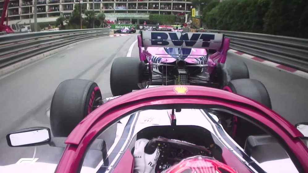 ONBOARD: Raikkonen battles with Stroll in Monaco