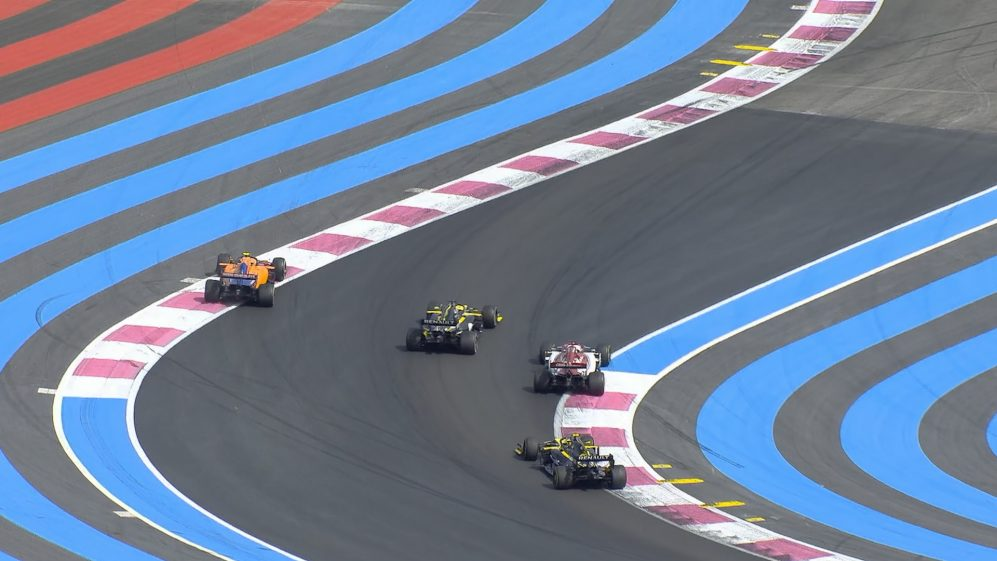 FRENCH GP: Norris loses out in mullti-car final-lap fight