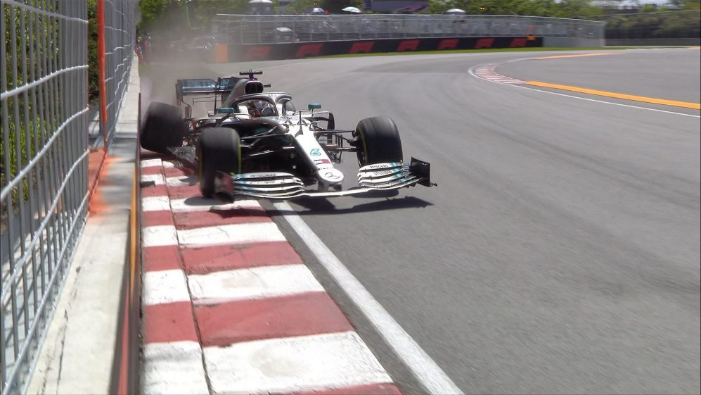 FP2: Hamilton picks up puncture after heavy hit with Turn 9 wall