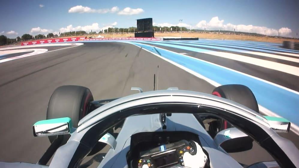 ONBOARD: Lewis Hamilton's France Pirelli pole position lap