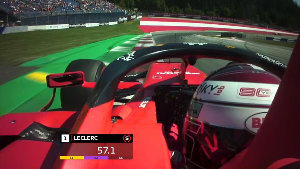 ONBOARD: Charles Leclerc's Austria Pirelli pole position lap