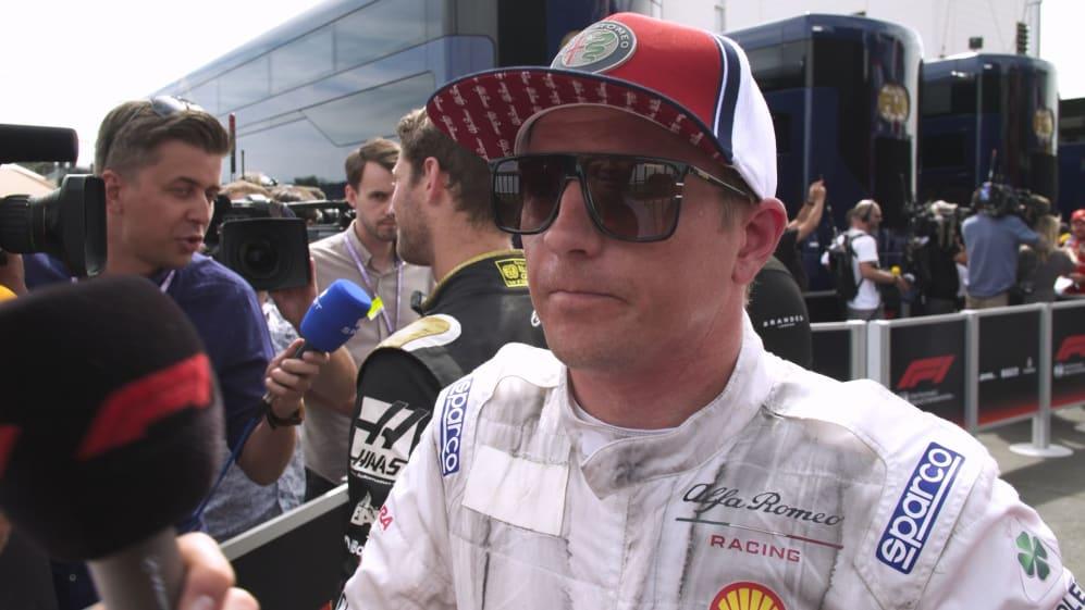 Kimi Raikkonen on 'intense' last-lap battle