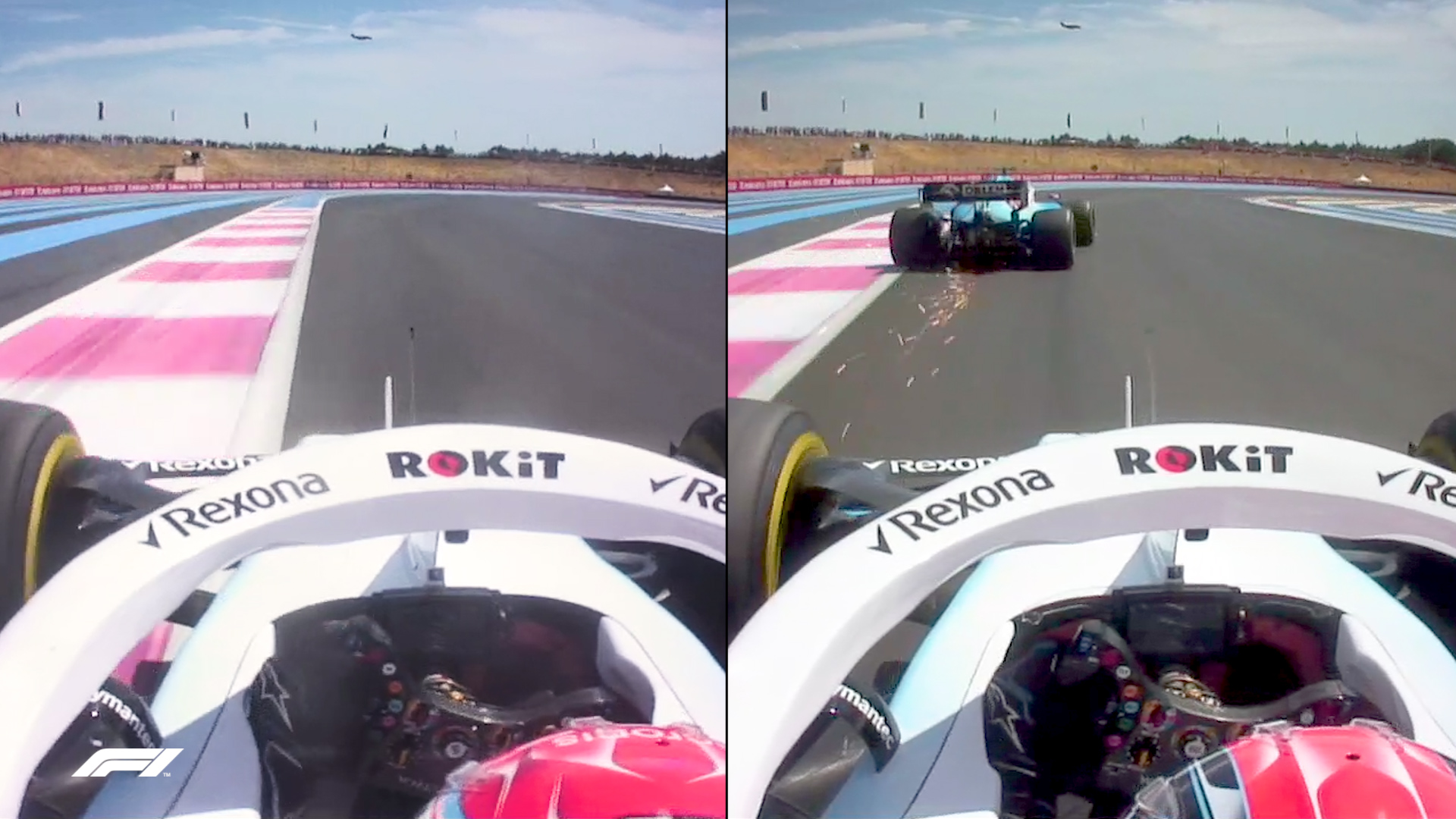 SIDE-BY-SIDE: How Russell made daring move on Kubica