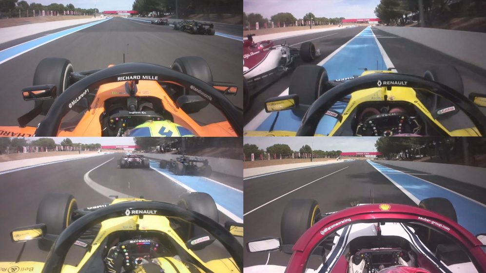 ONBOARD 4-WAY: Check out the dramatic last lap of the French Grand Prix