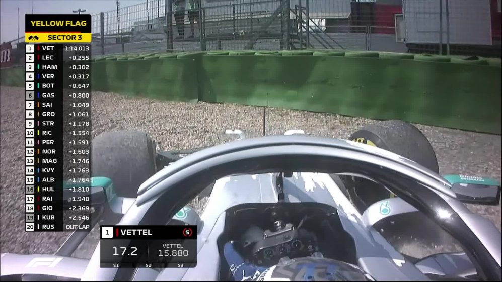 FP1: Bottas has a lucky escape from the Hockenheim gravel