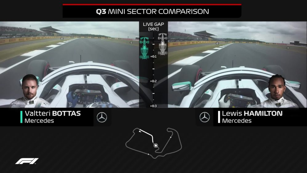 ONBOARD COMPARISON: How Bottas beat Hamilton to pole in Great Britain