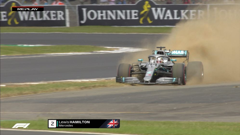 FP2: Hamilton off track as he pushes the limits at Silverstone