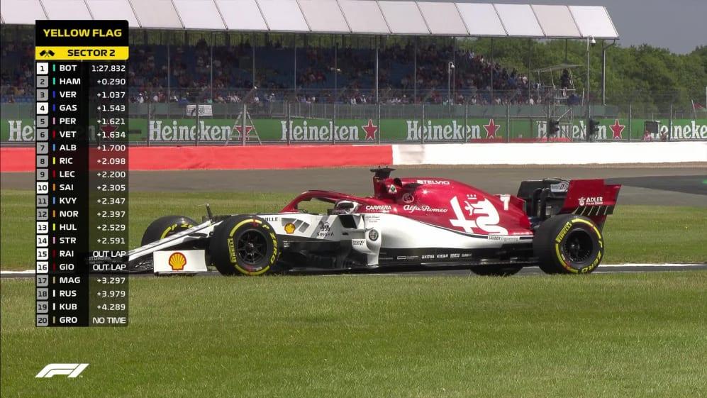 FP1: Red flags as Raikkonen's Alfa Romeo fails on track