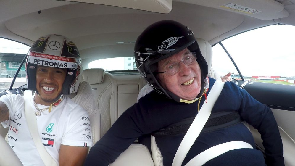LAP OF LEGENDS: Lewis Hamilton's Hot Lap with Sir Frank Williams