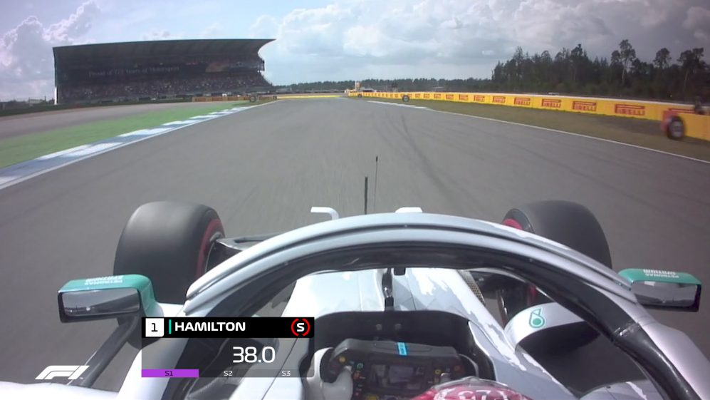ONBOARD: Lewis Hamilton's Germany Pirelli pole position lap