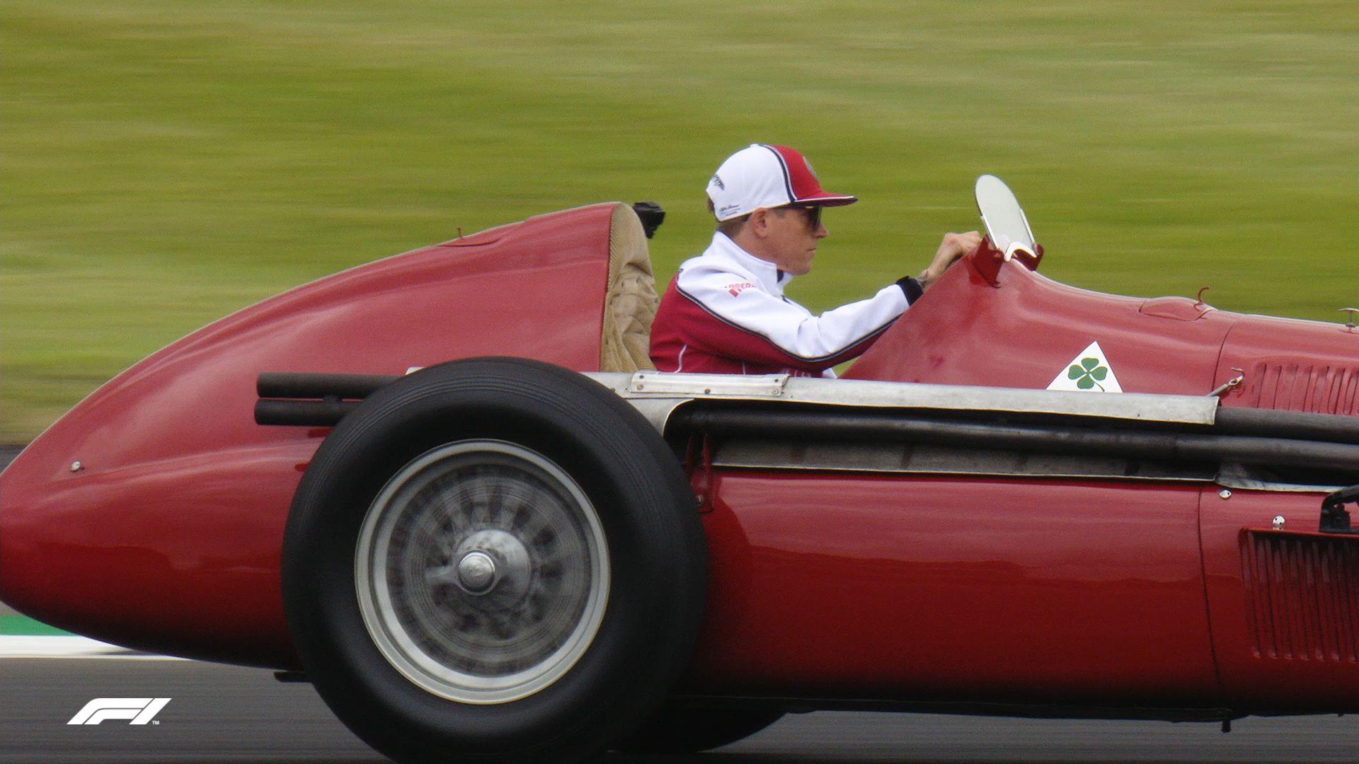 "Kimi Raikkonen drives the legendary Alfa Romeo ""Alfetta"""
