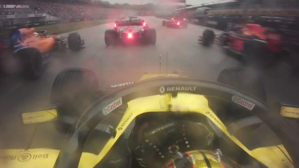 GERMAN GP: Hulkenberg's charge to P5 on lap 1