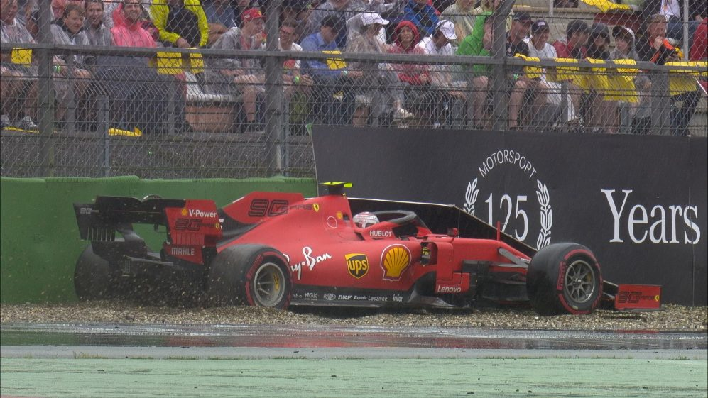 Crashes and spins at German GP's treacherous Turn 16