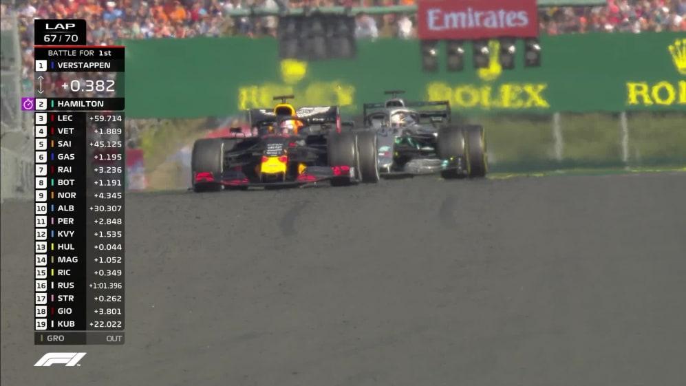 Hungarian GP: Hamilton passes Verstappen for Hungary win