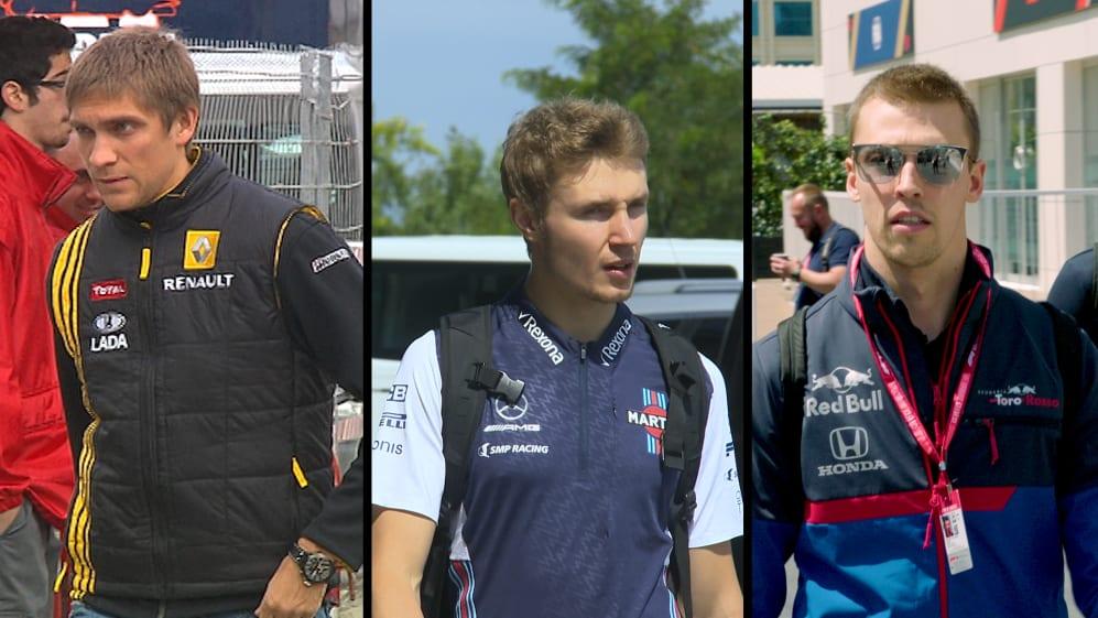 F1 VAULT: Petrov, Sirotkin and Kvyat - Russia's three F1 drivers