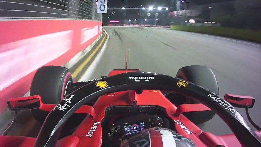 ONBOARD: Charles Leclerc's Singapore Pirelli pole position lap