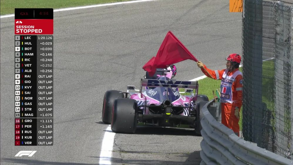 Qualifying: Car failure for Perez brings out red flags in Q1