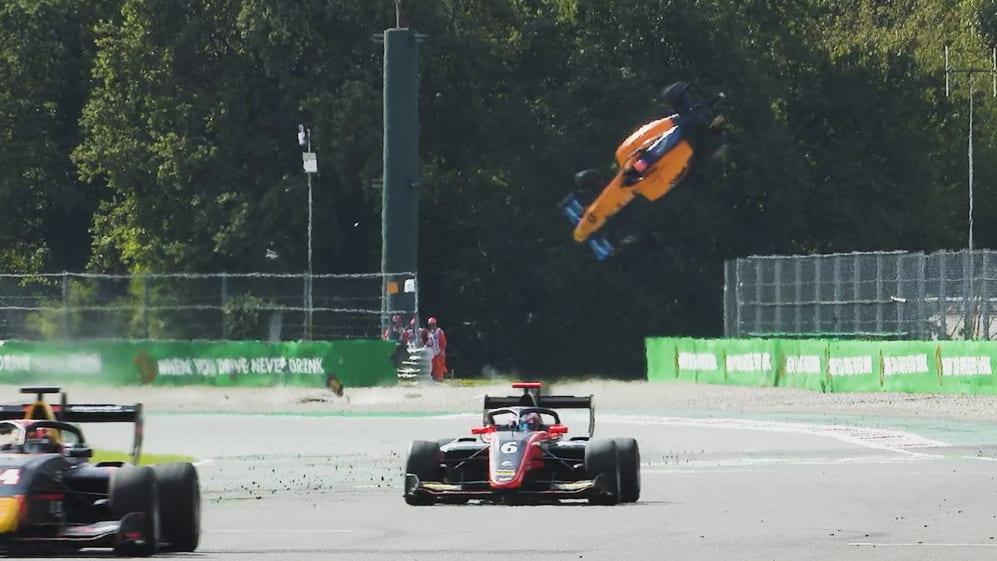 Alex Peroni walks away from huge F3 crash at Monza