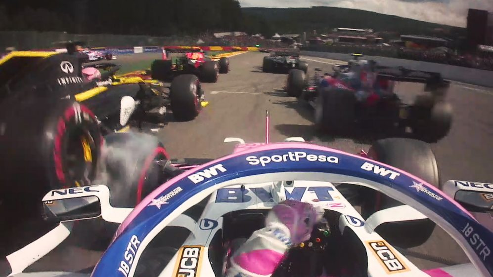 The ultimate hypercut from the start of the Belgian Grand Prix