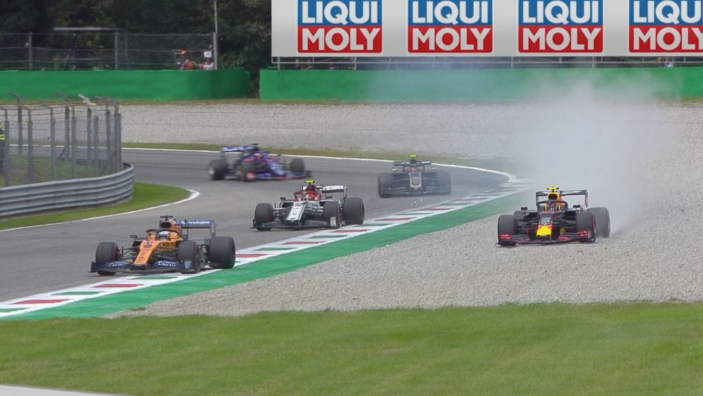 Italian GP: Albon-Sainz duel ends with Red Bull in the gravel