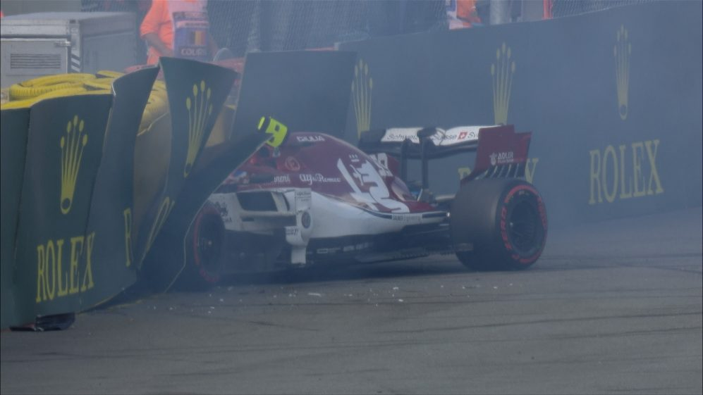 BELGIAN GP: Late crash at Pouhon deprives Giovinazzi of points