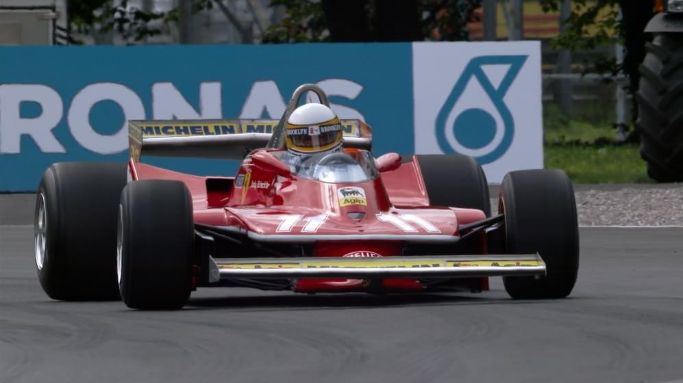 Jody Scheckter drives 1979 title-winning Ferrari at Monza