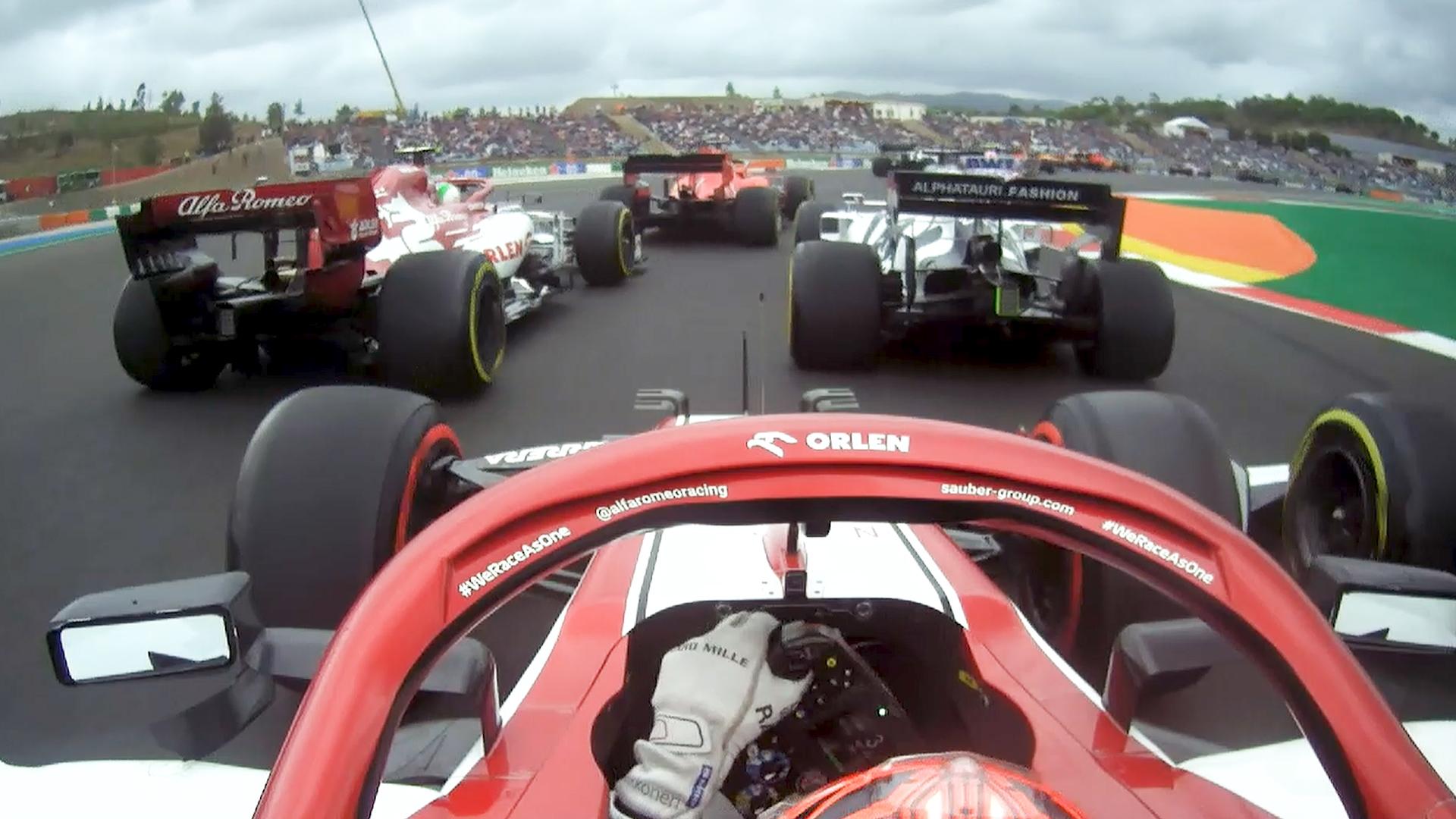 2020 Portuguese Grand Prix: Raikkonen makes up 10 places with incredible start