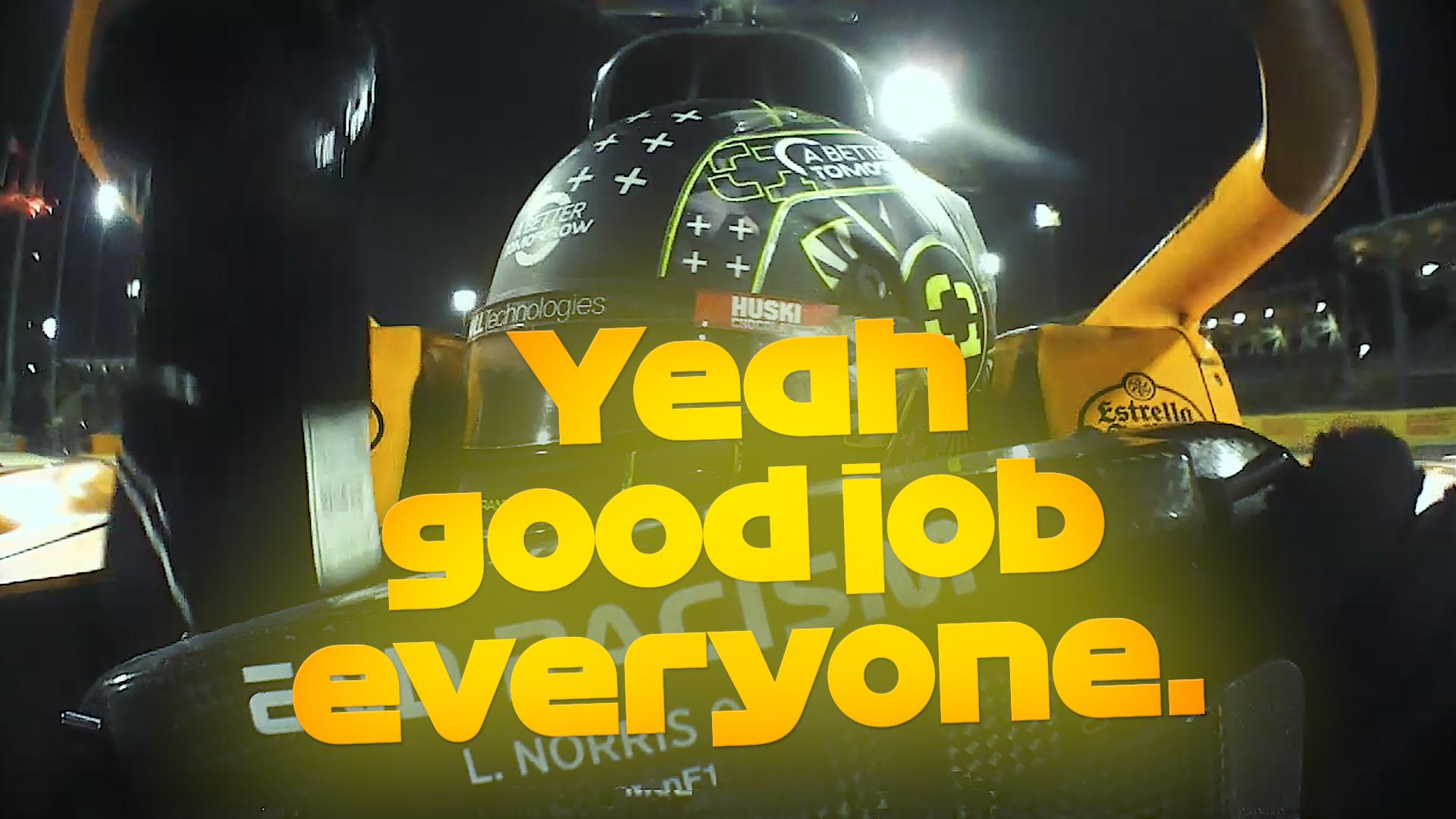 Norris & Sainz celebrate P4 and P5 for McLaren at Bahrain GP
