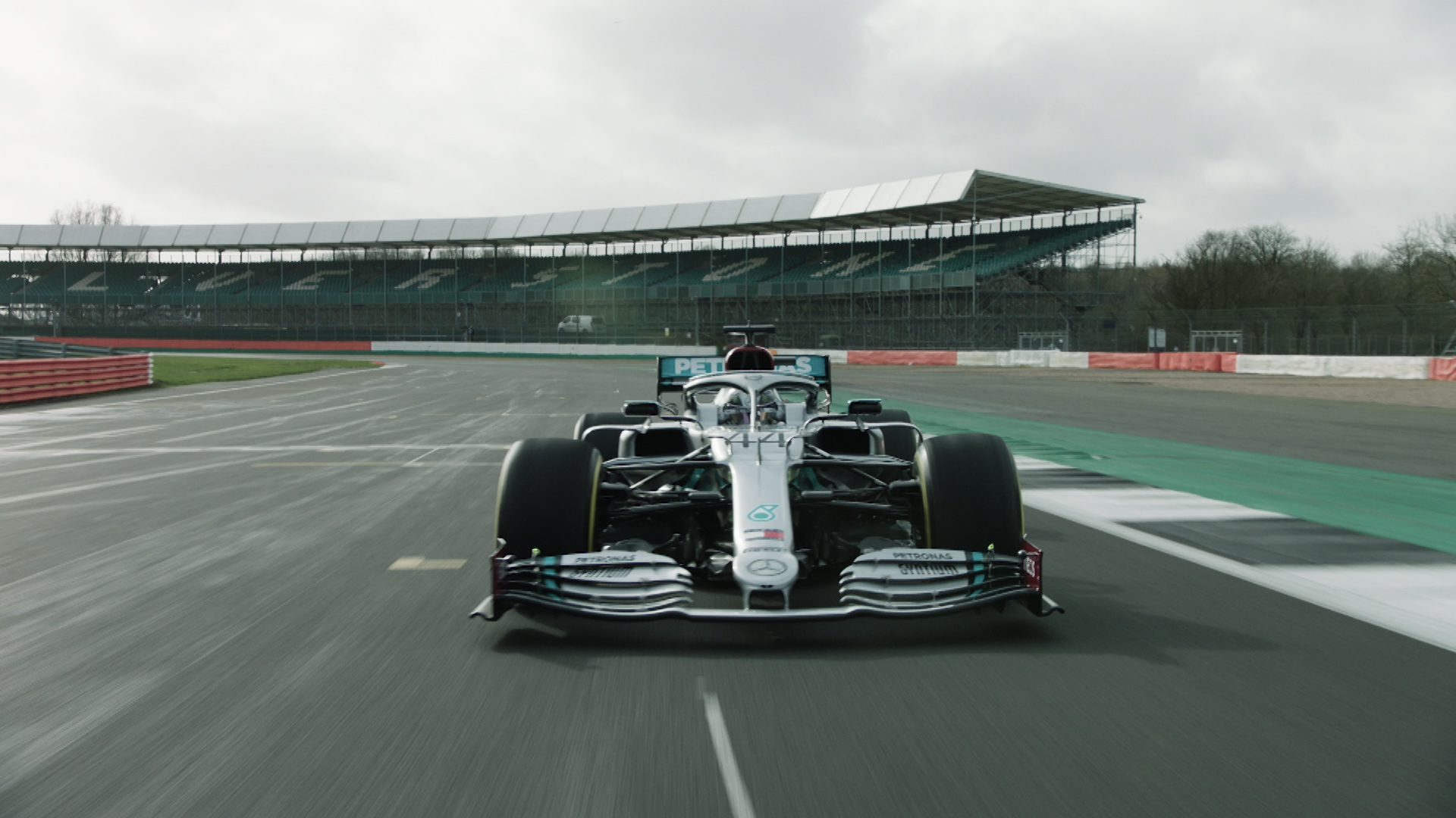 Mercedes shakedown 2020 car at Silverstone