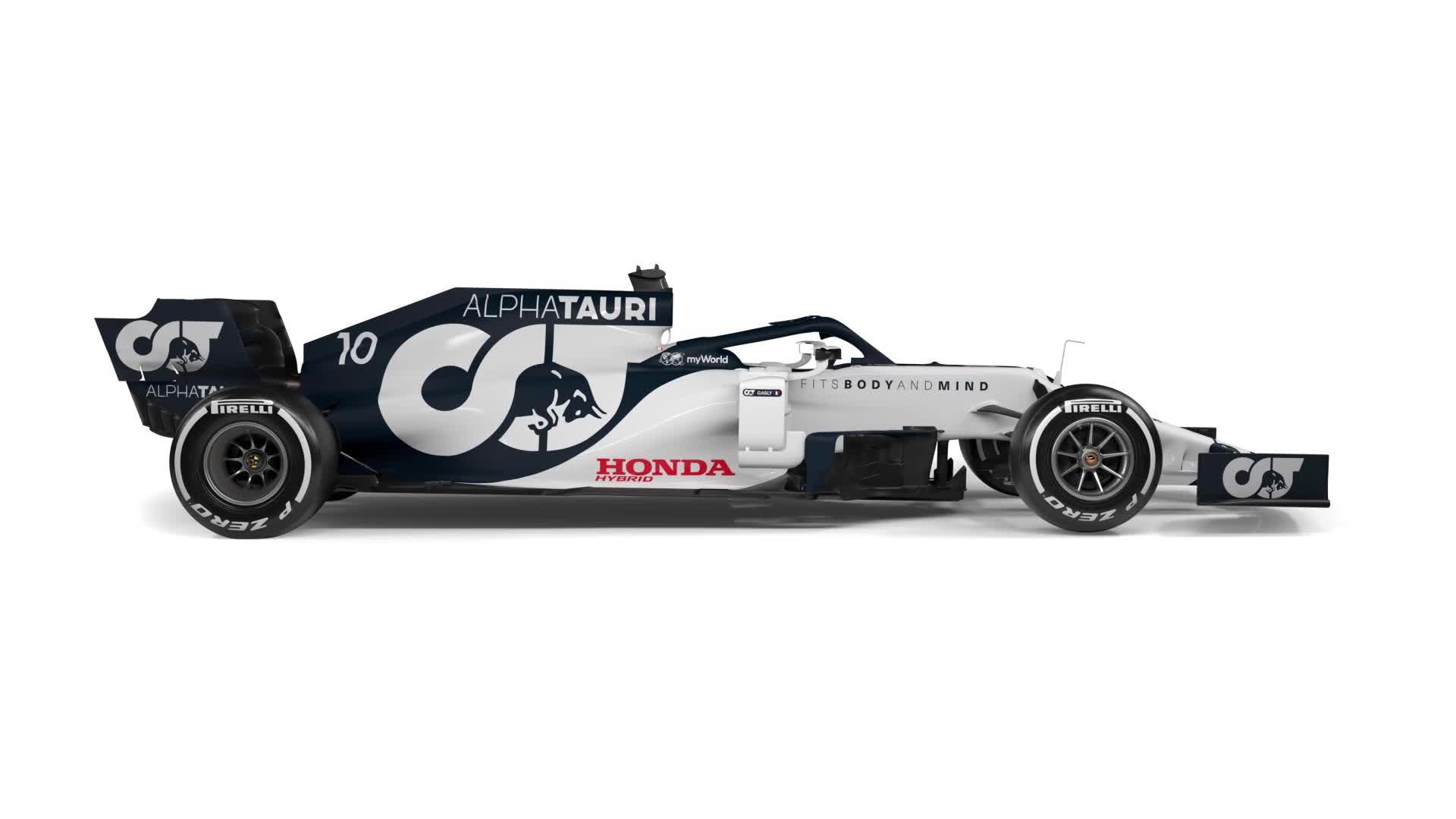 2020 Alpha Tauri compared with 2019 Toro Rosso