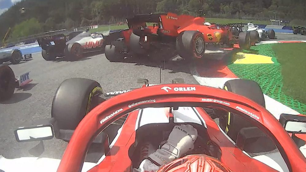 Styrian Grand Prix: Vettel & Leclerc retire following first lap Ferrari cash